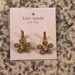 Kate Spade gold flower earrings. Never worn.